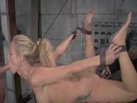 BDSM-  Simone Sonay  masturbata anal si fututa dur in gat